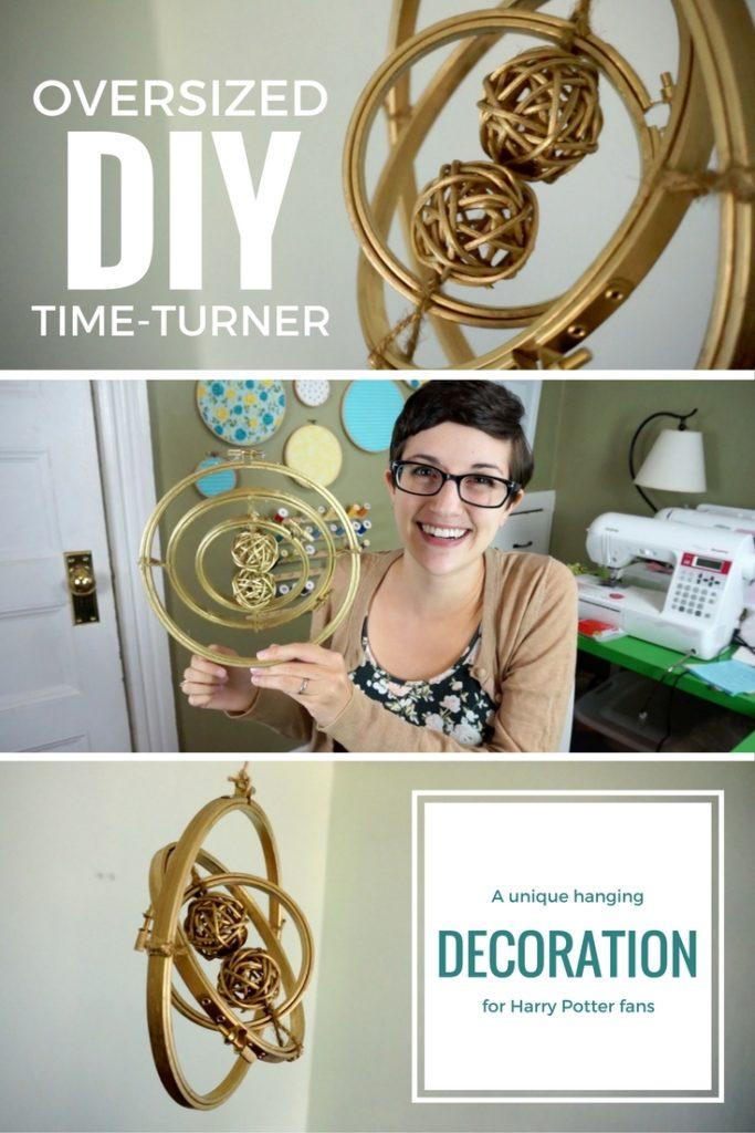 DIY Giant Hanging Time-Turner Decoration