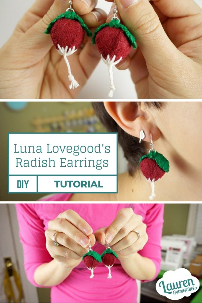 DIY Luna's Radish Earrings