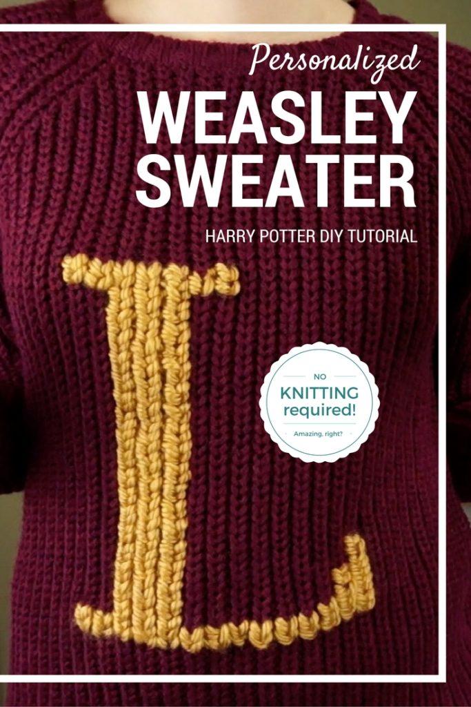 Turn A Muggle Sweater Into A Weasley Sweater Lauren Fairweather