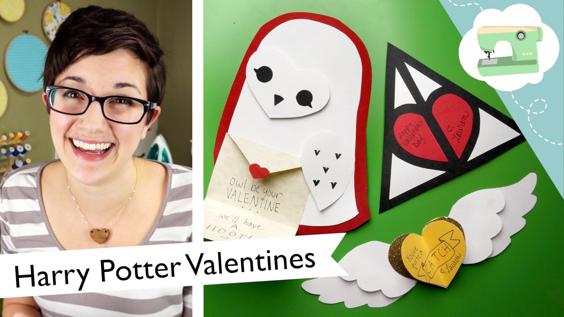 DIY Harry Potter Valentine's Day Cards