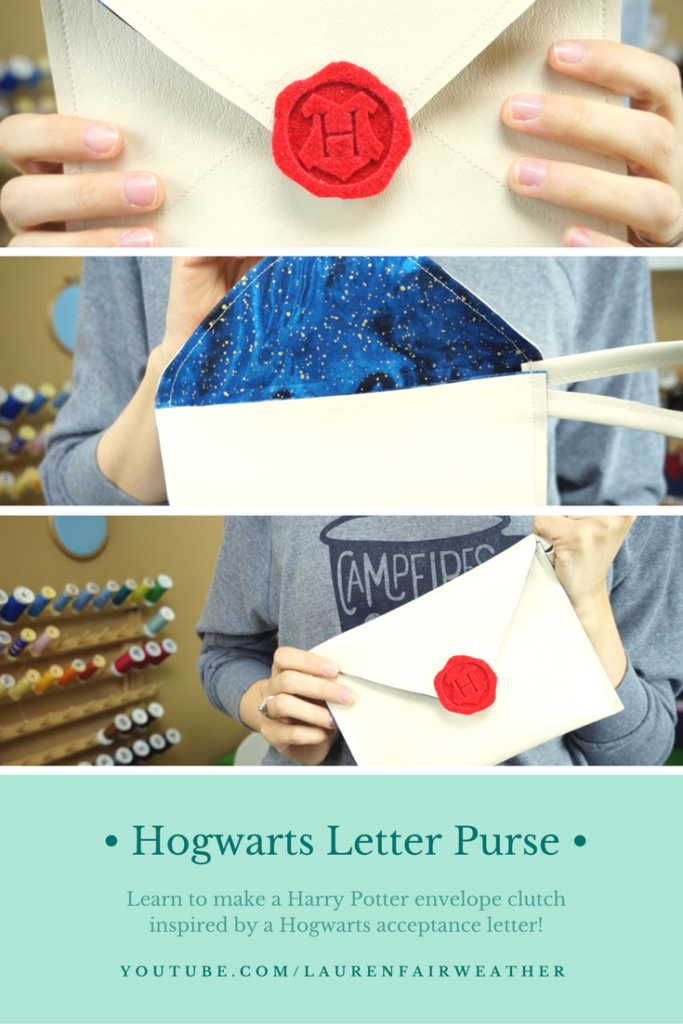 Make a DIY Hogwarts Letter envelope clutch inspired by the Harry Potter series!