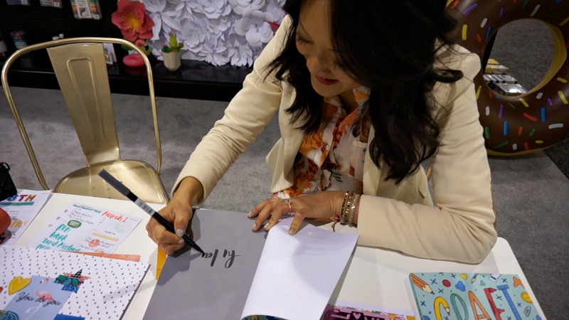 Amy Tangerine signing her book, Craft A Life You Love.