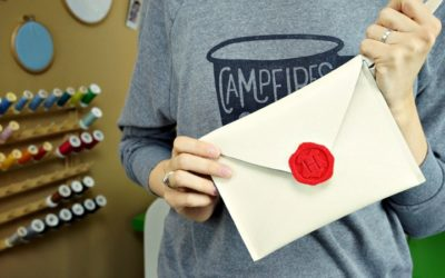 Hogwarts Letter Purse – A DIY Envelope Clutch