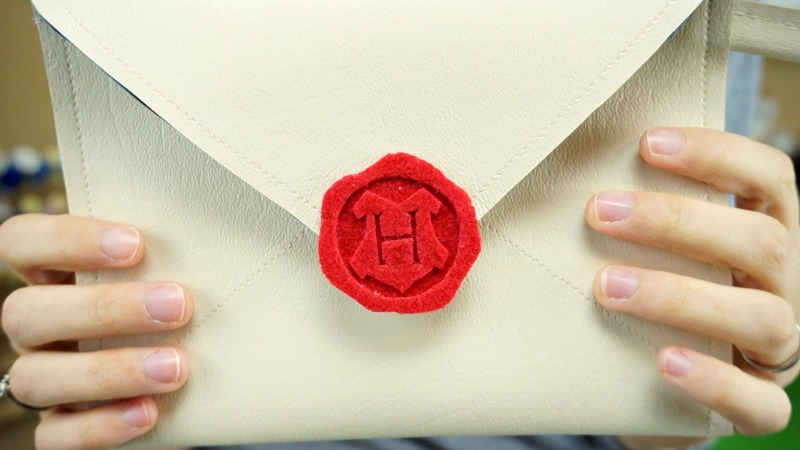 Hogwarts Letter Purse with Felt Wax Seal