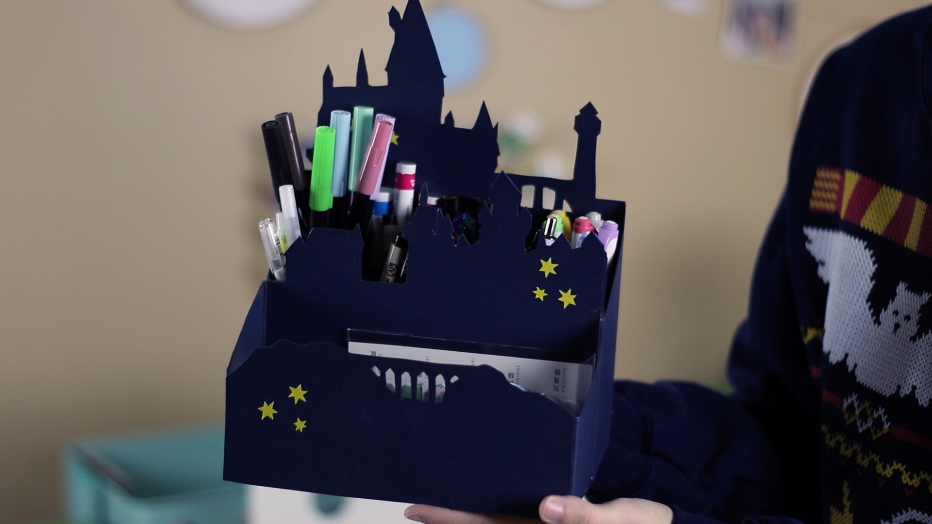 Upcycled Hogwarts Desk Organizer