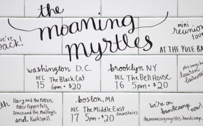 Moaning Myrtles Reunion Shows & New T-Shirt!